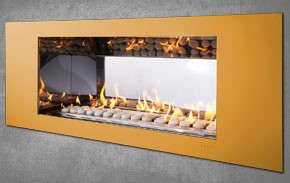 SYAM Vertex Facia Single Sided Fireplace