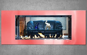 SYAM Vertex Facia Double Sided Fireplace